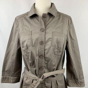 Boden Women's Khaki Button Up Dress US 12L